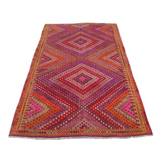 Vintage Turkish Kilim Rug - 5′2″ × 8′5″