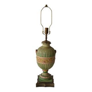 1930's English Majolica Lamp