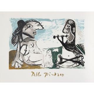 Pablo Picasso - Femme Assise Et Joueur De Flute