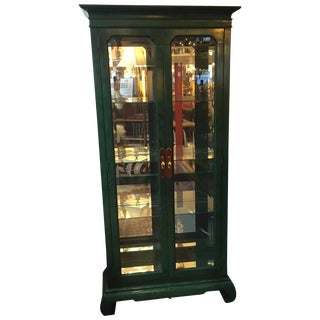 Emerald Curio Cabinet by American of Martinsville