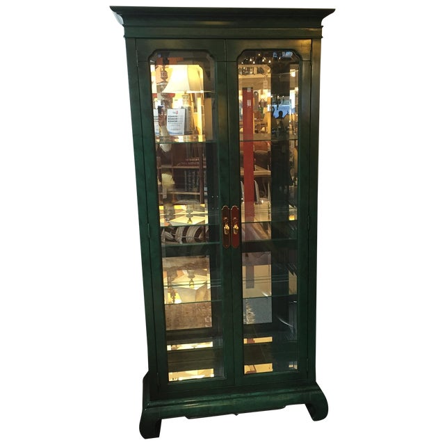 Image of Emerald Curio Cabinet by American of Martinsville