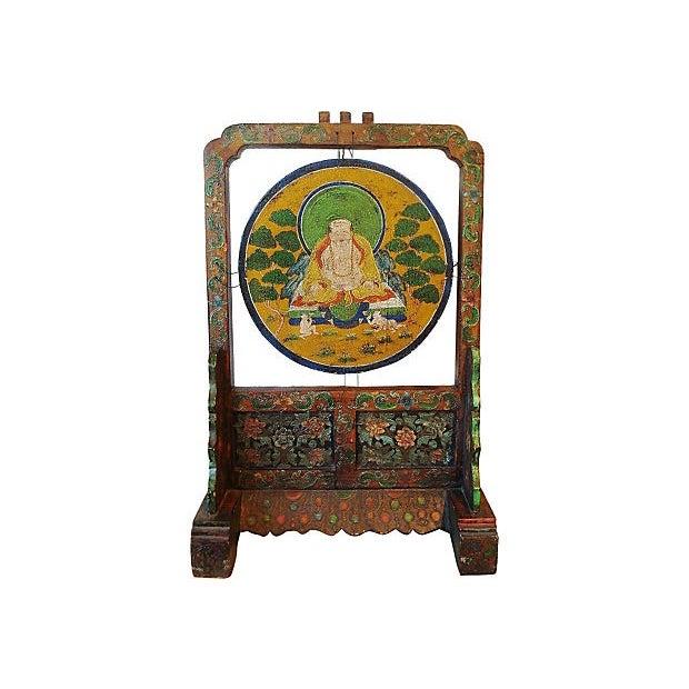 Gong Stand Designs : Tibetan buddha gong stand chairish