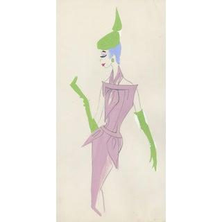 Original 1959 Fashion Drawing