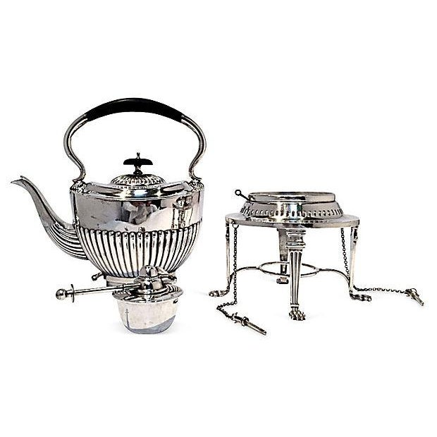 Image of Silverplated Sheffield Teapot & Warmer