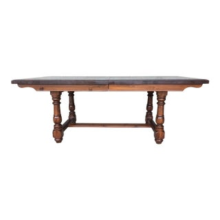 Heywood Wakefield Trestle Extension Dining Table