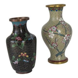 Vintage Cloisonné Vases - A Pair