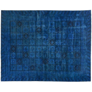 Silky Wool Overdyed Rug - 11′10″ × 14′8″