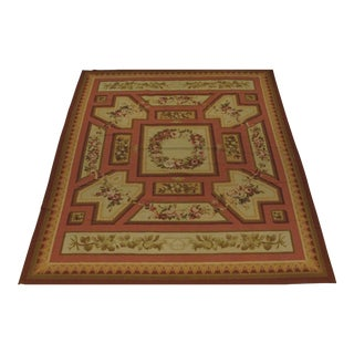 French Aubusson Design Hand Woven Wool Rug - 12' X 15'