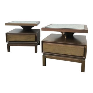 American of Martinsville Pedestal Nightstands - A Pair