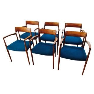 Moller 57 Walnut Armchairs - Set of 6