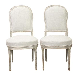 Gustavian Antique Dining Chairs - a Par