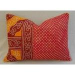 Image of Boho-Chic Kantha Textile & Velvet Down Pillow
