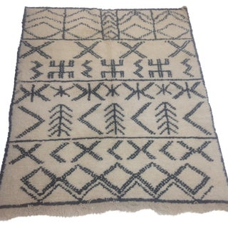 Authentic Moroccan Beni Ourain Rug - 5′5″ × 6′9″