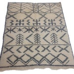 Image of Authentic Moroccan Beni Ourain Rug - 5′5″ × 6′9″