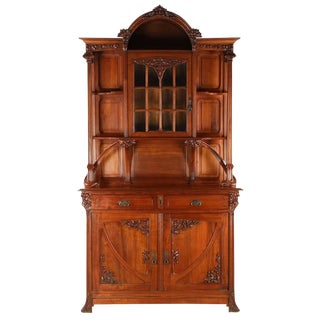 French Antique Walnut Sideboard