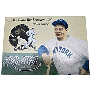 Advertising Poster With Lou Gehrig Image