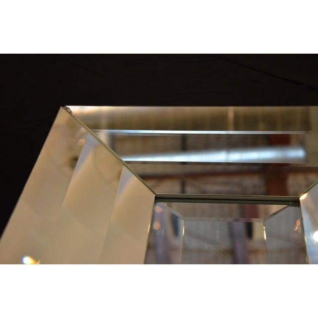 Image of Italian Beveled Op Art Mirror