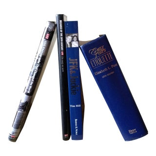 Collectible Black & Blue Photojournalism Etiquette Books - Set of 4d