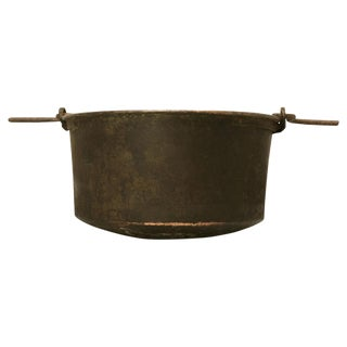 c. 1840 Large Handmade French Copper Cauldron