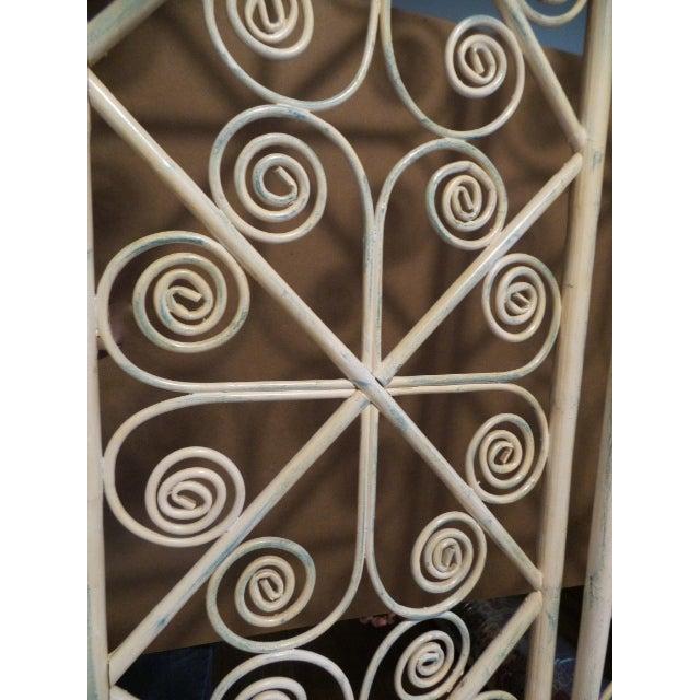 Vintage Bamboo Peacock Scroll Swinging Doors - Image 7 of 7