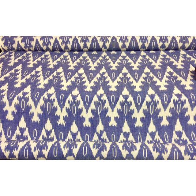 Royal Blue Ikat Fabric- 40 Yards - Image 1 of 3