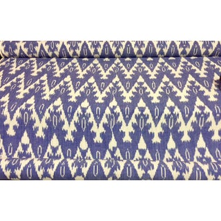 Royal Blue Ikat Fabric- 40 Yards