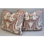 Image of Mariano Fortuny Glicine & Mohair Pillows - A Pair