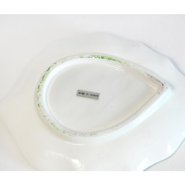 Majolica Orange Cup and Leaf Saucer - Image 6 of 6