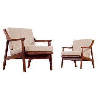Mid-Century Modern Wood Armchairs - A Pair