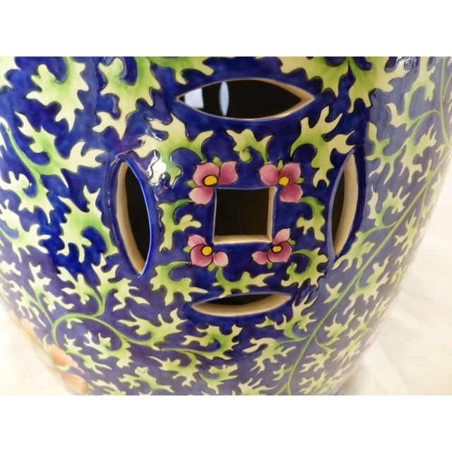 Chinoiserie Garden Stool With Dragon Motif - Image 6 of 8