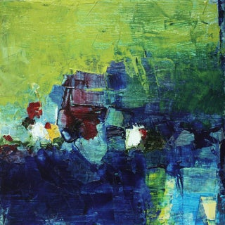 Paul Ashby Square Abstract Modern Oil Painting