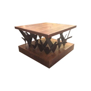 Farm Barn Wood And Tractor Plow Table