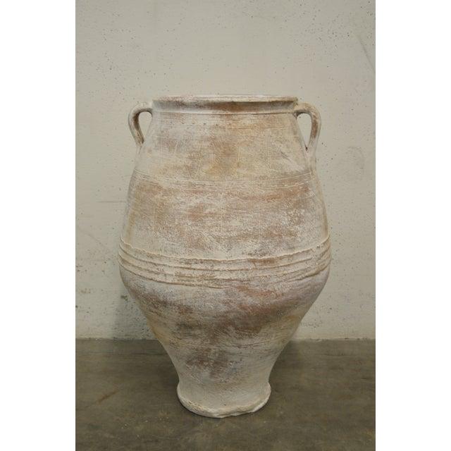 Image of Antique Pithari Greek Terracotta Pottery Vessel