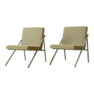 Pair of Angular Lounge Chairs