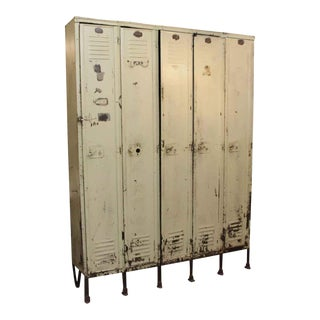 Industrial White Locker Unit