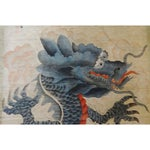 Image of Chinese Scroll With Dragon Riding Clouds