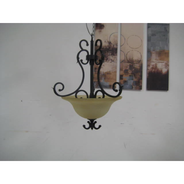 Oil Rubbed Bronze Dome Chandelier - Image 3 of 8