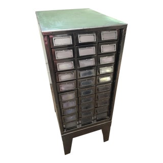 Vintage Mid-Century Metal Library Cabinet
