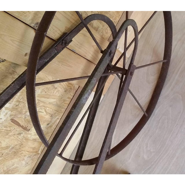 Antique Tiller Plow Steel Yard Art - Image 5 of 6