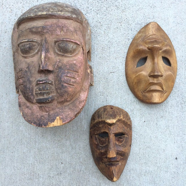 Image of Wooden Masks - Set of 3