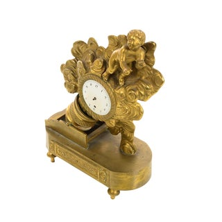 "19th century French Bronze Dore Figural Clock ""Care La bombe"""
