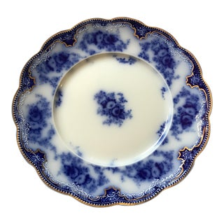 Grinley Florida Flow Blue Ceramic Luncheon Plate