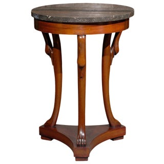 French Directoire Style Marble Top Guéridon Table from the Late 19th Century