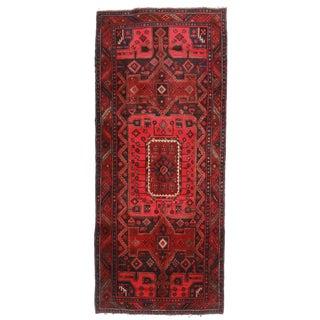 """RugsinDallas Vintage Wool Persian Hamedan Runner - 4' X 9'5"""""""
