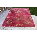 Image of Authentic 1930s Art Deco Chinese Handmade Rug