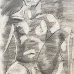 Image of Seated Male Nude Drawing