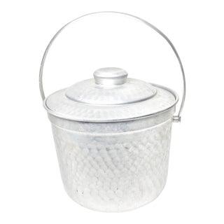 Mid Century Modern Hammered Aluminum Ice Bucket