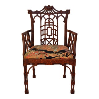 Chinoiserie Chippendale Oil-Drop Pagoda Chair