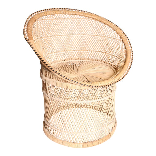 Vintage Boho Chic Wicker Pod Chair - Image 1 of 11