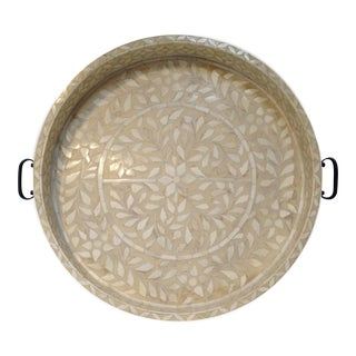 Large Bone Inlay Serving Tray